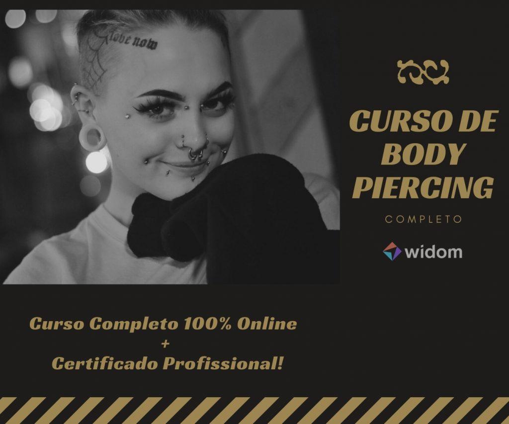 Curso de Body Percing Online da Widom
