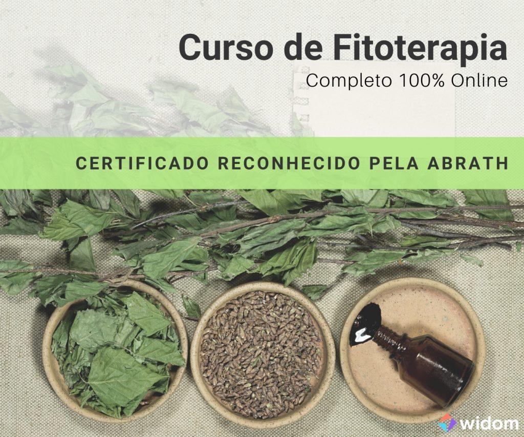 Curso de Fitoterapia Online EaD da Widom com Certificado reconhecido pela ABRATH