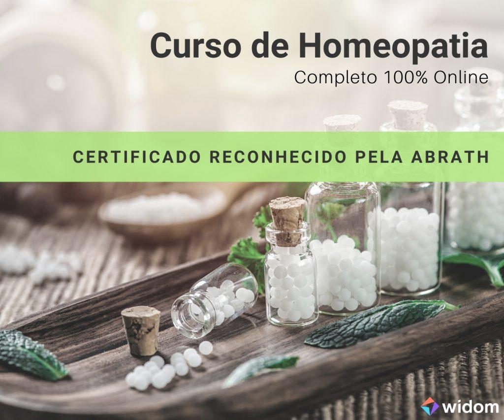 Curso de Homeopatia da Widom reconhecido pela ABRATH